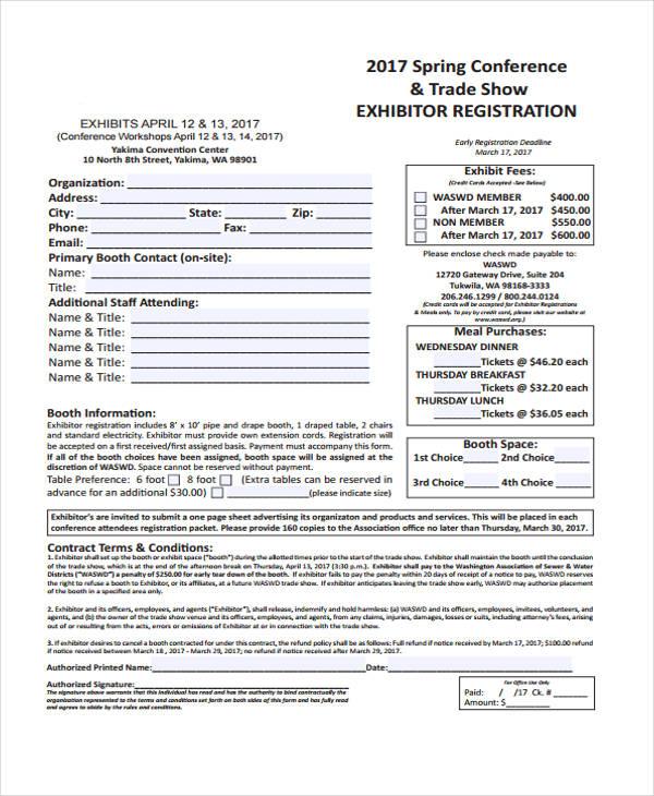 spring conference exhibitor registration form1