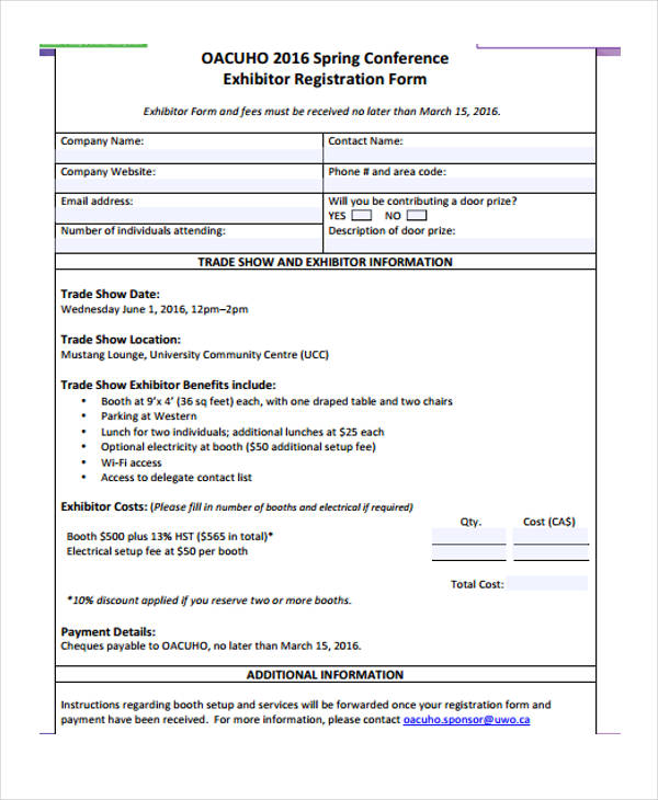 spring conference exhibitor registration form2