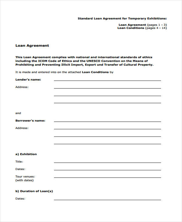 Loan Agreement Form Template Loan Agreement Form Get Personal – Private Loan Agreement Template