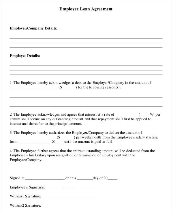 standard employee loan agreement3