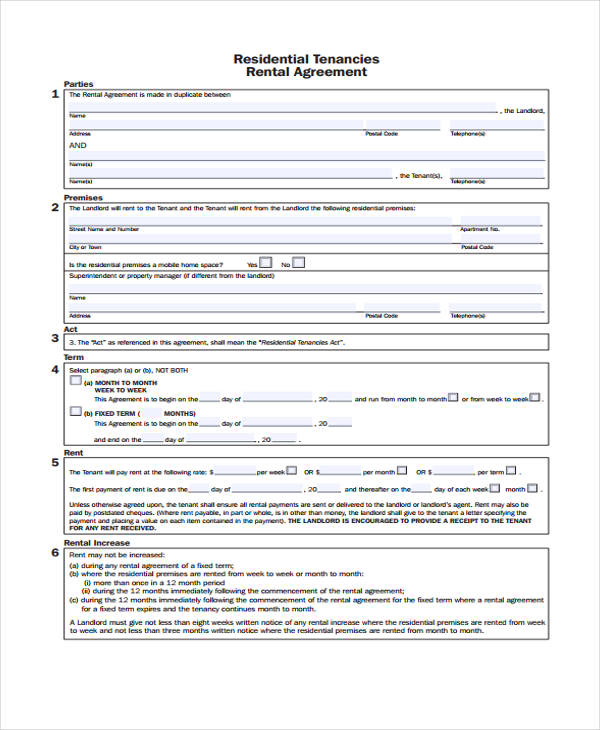 Business Agreement Form Template