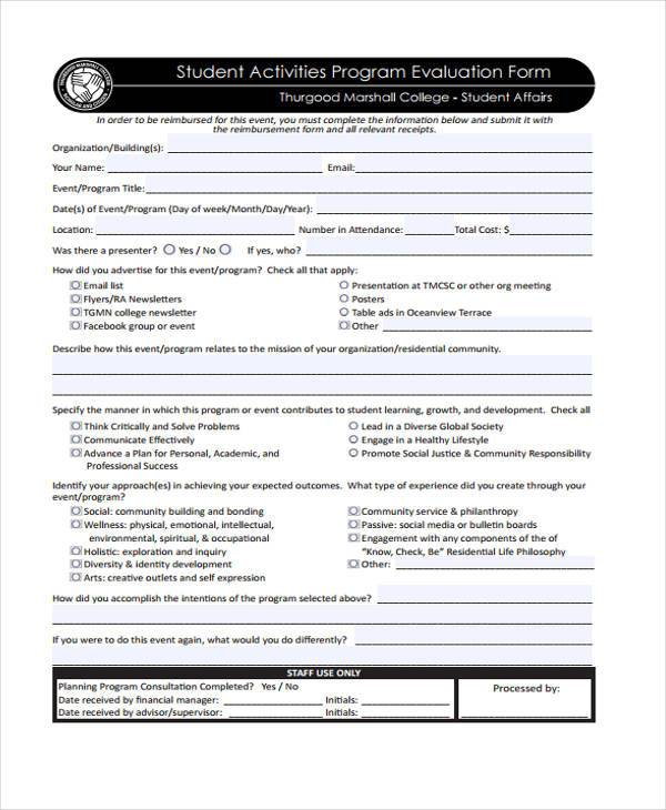 student activities program evaluation form1
