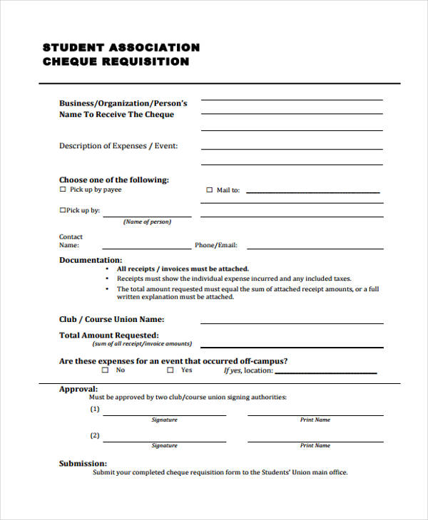 student association cheque requisition form1