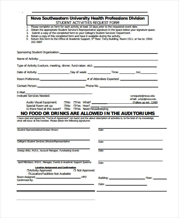 student association requisition form
