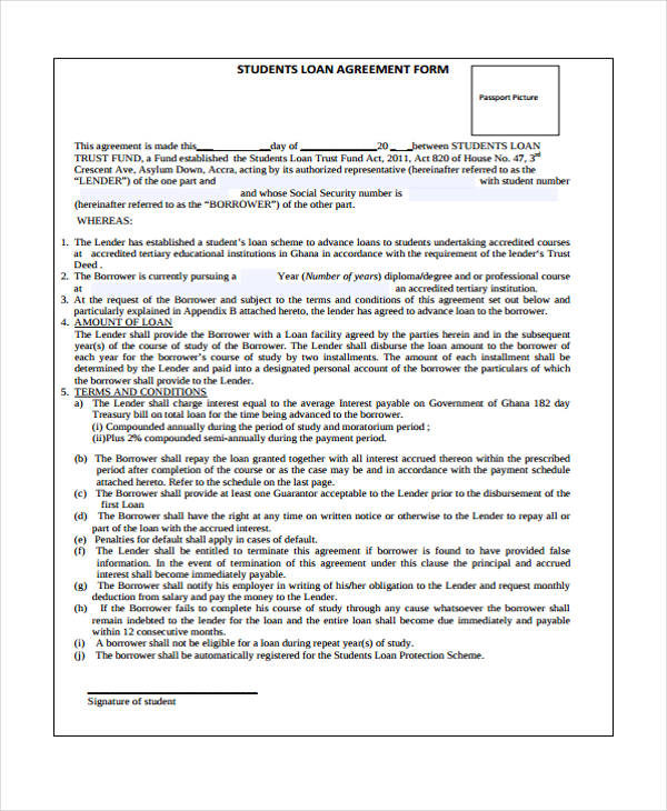 student finance loan agreement1