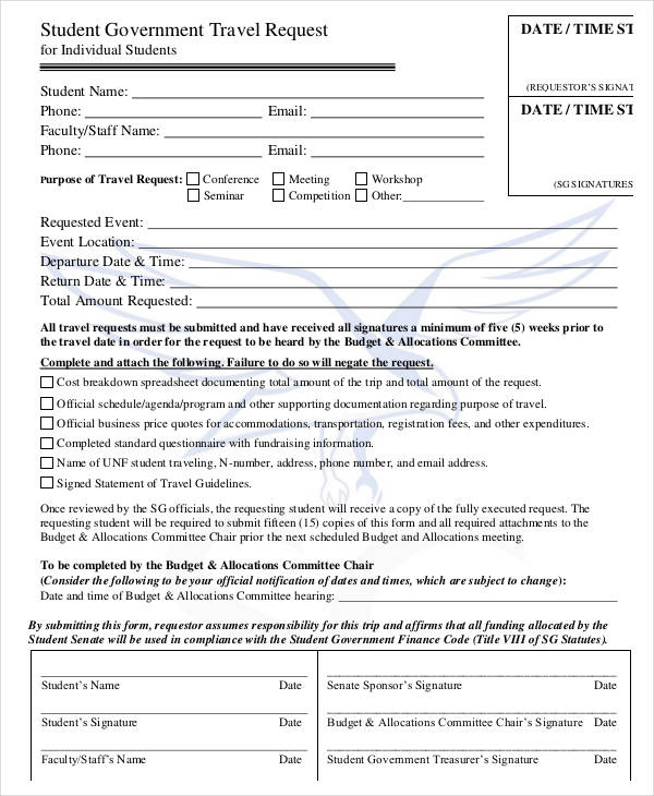 student government travel request form1