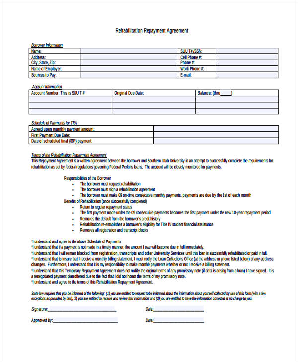student loan rehabilitation agreement1