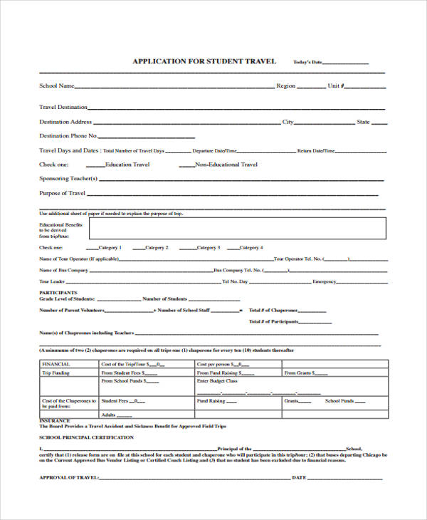 student travel application form1