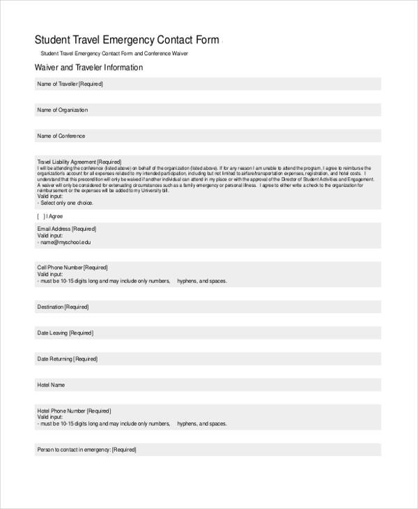 student travel emergency contact form1