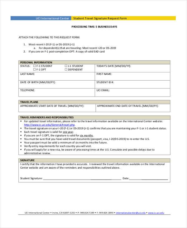 student travel signature request form1