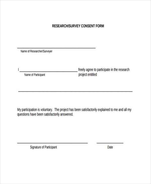 Example Of Survey Forms