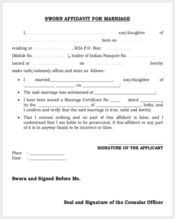sworn affidavit form for marriage3