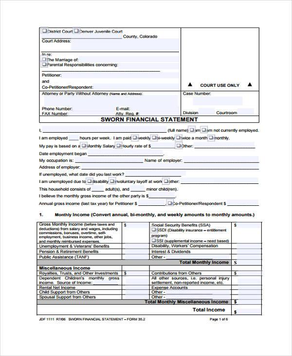 sworn financial statement form1