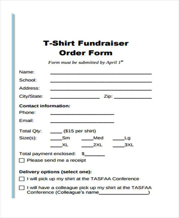 Apparel Order Forms