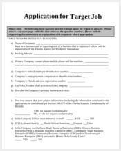 target job application form1
