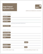 target proposal application form