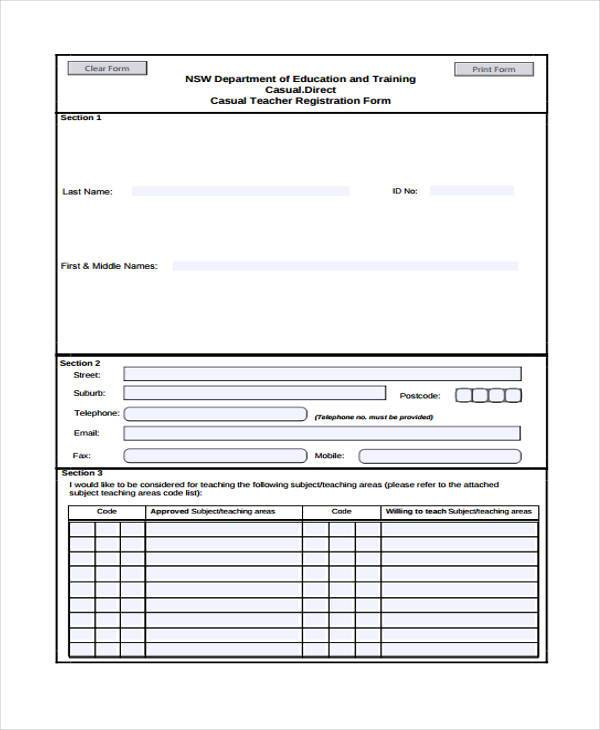 teacher registration form in pdf