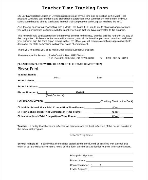 teacher time tracking form1