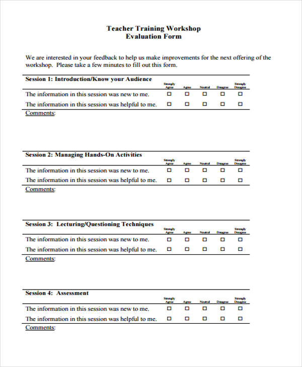teacher training workshop evaluation form2