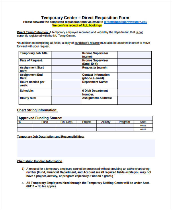 temporary employee requisition form1