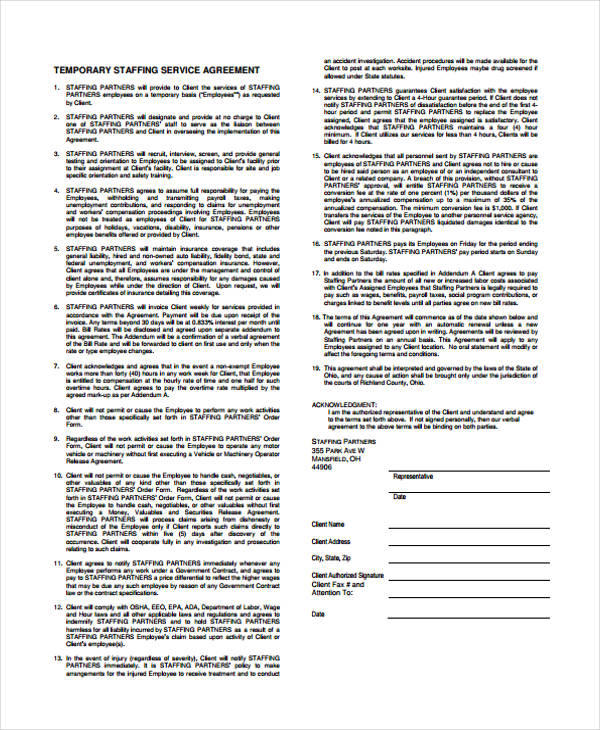 temporary staffing service agreement form1