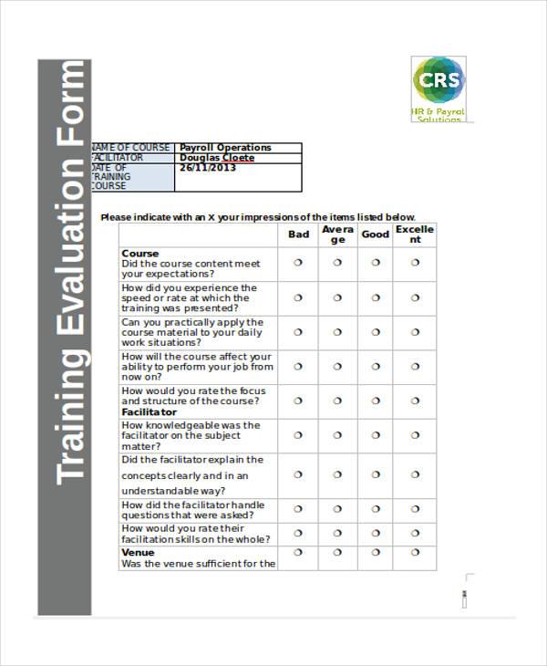 training course evaluation form1
