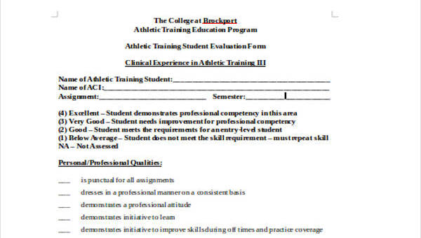 Training Evaluation Form In Doc | 21 Training Evaluation Forms In Doc