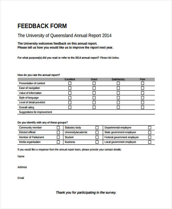 Sample Training Survey Employee Performance Survey Form Sample