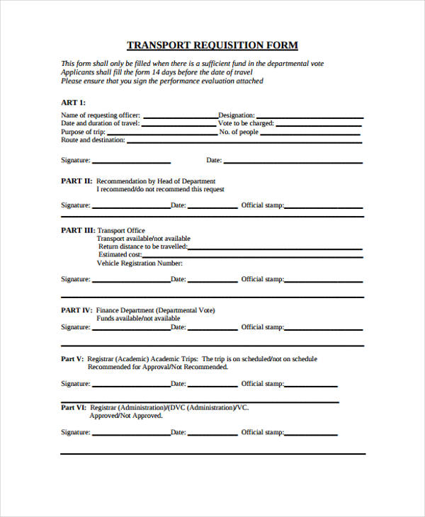 requisition for funds template  85  Requisition Form in PDF