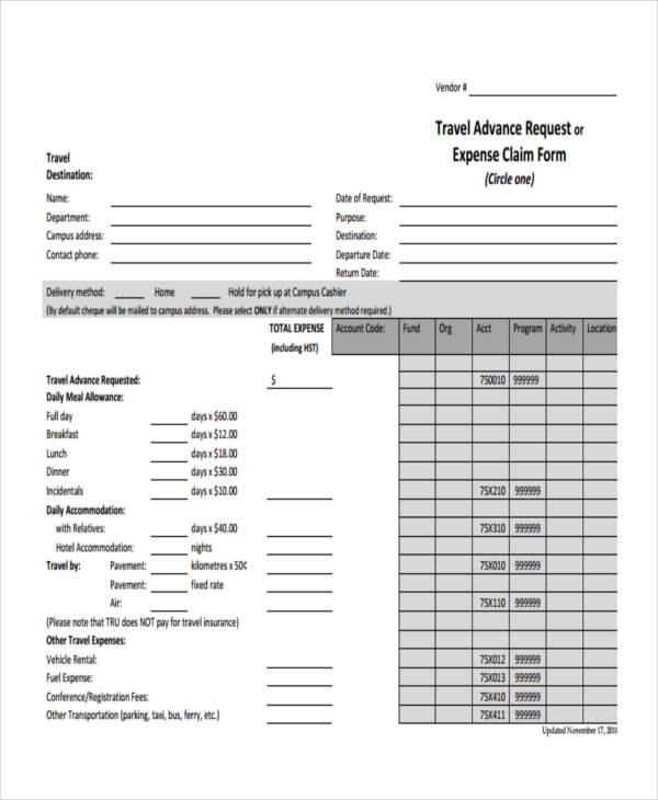 travel advance request claim form2