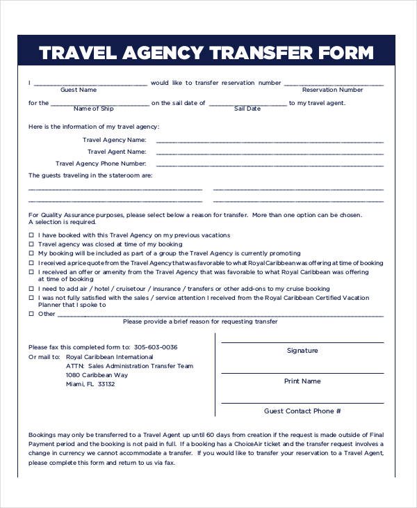 Travel Agency Reservation Form1