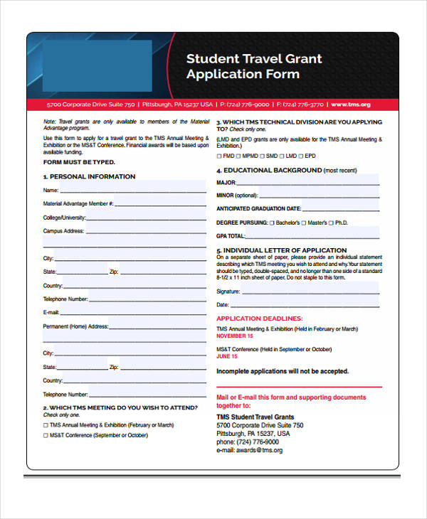 travel grant application form2