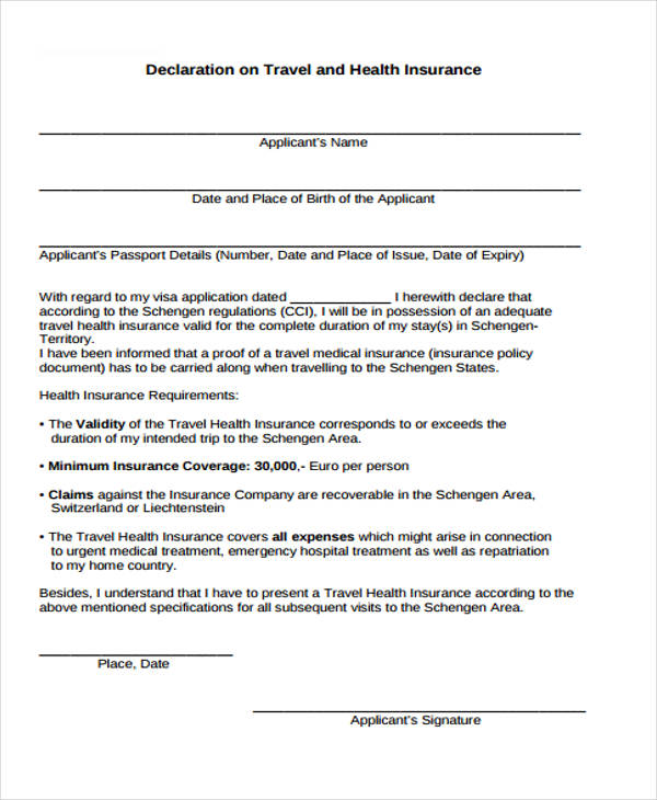 travel health insurance form1