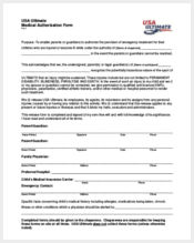 usa ultimate medical authorization form