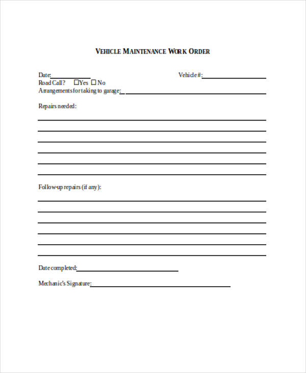 Change order request form template