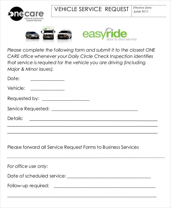 vehicle service request form1