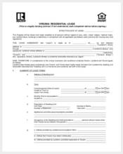 virginia residential lease agreement form