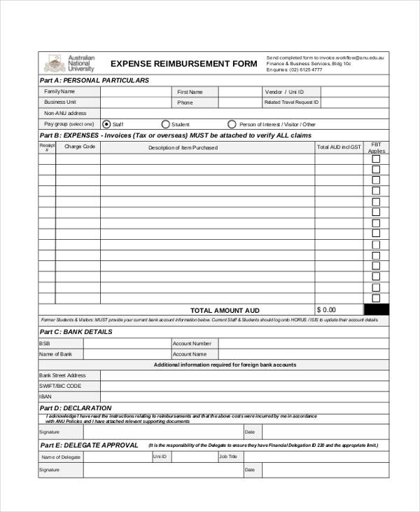visitor travel expenses reimbursement form1