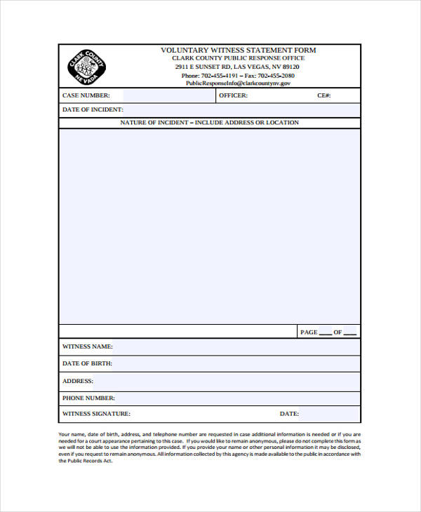 Example Of Statement Forms