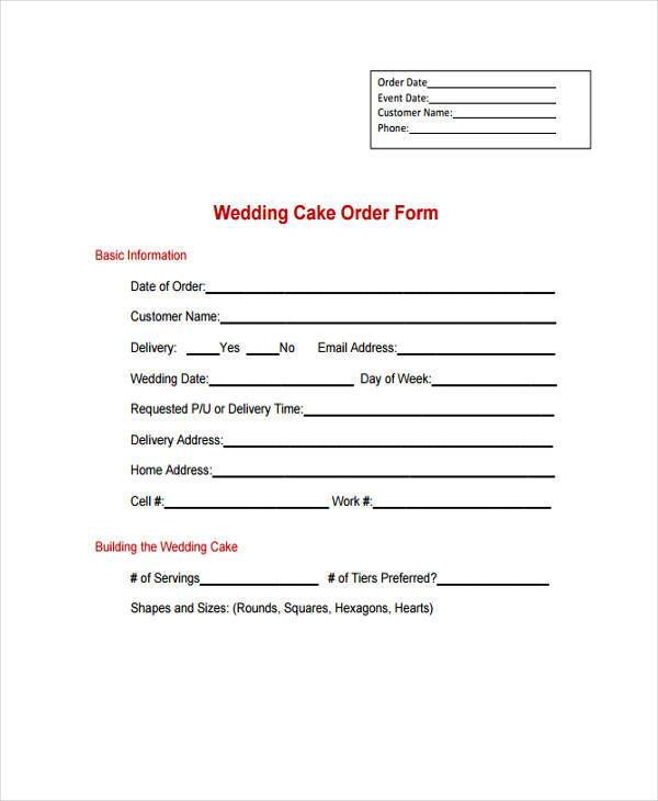 wedding cake order form1