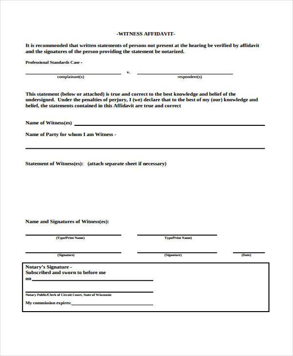 affidavits sworn to or affirmed by third parties i 751 affidavit forms in pdf 19986