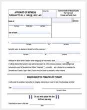 witness sworn affidavit form2