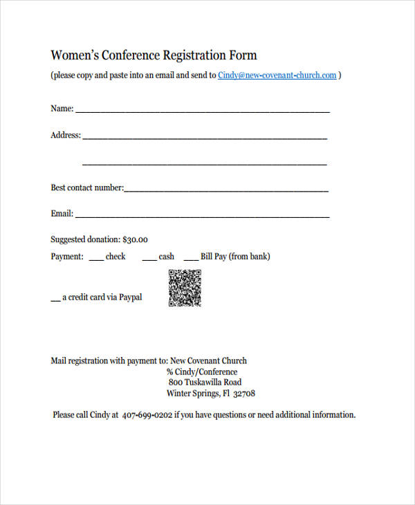 sample workshop registration form template - 21 conference registration forms