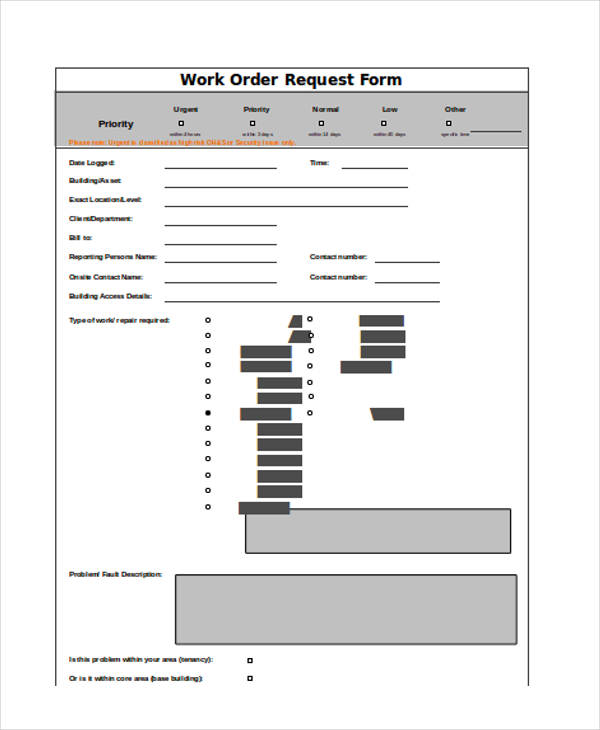 work order request form6