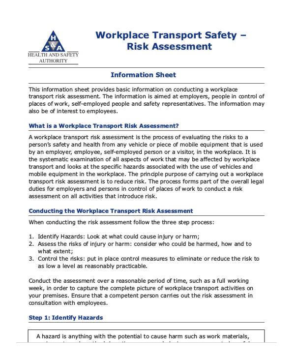 workplace transport risk assessment form2