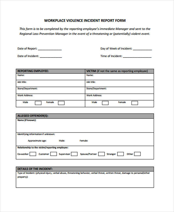 Sample Incident Report Free Sample Of Incident Report Letter Report