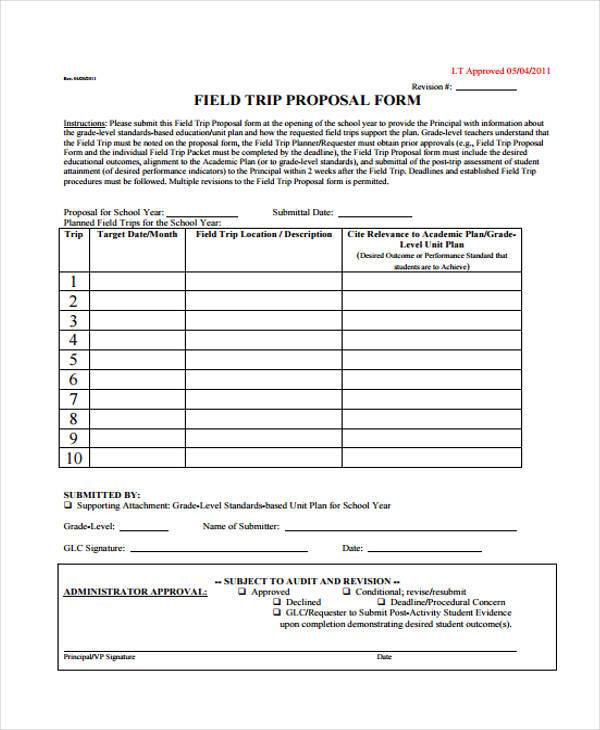 workshop field trip proposal form