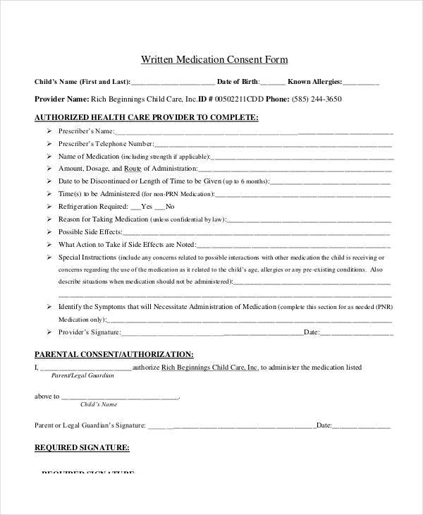 written medication consent form3