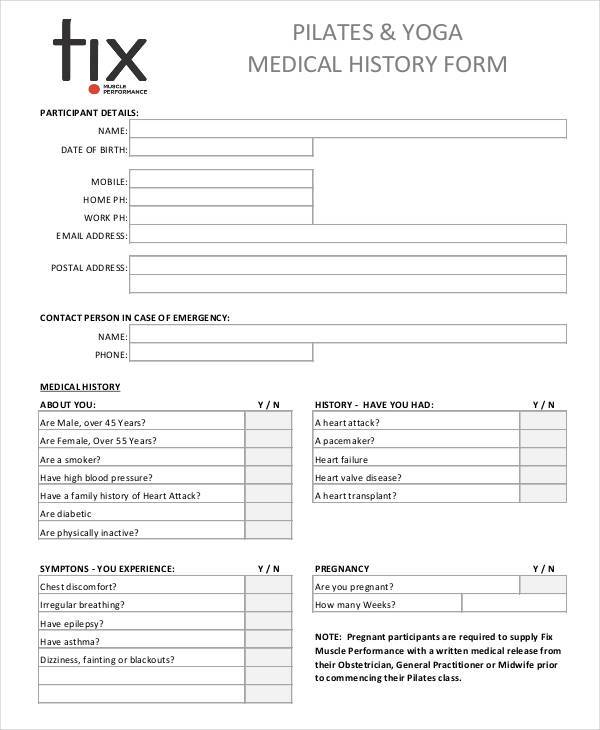 yoga medical history form1