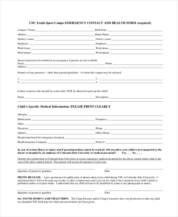 youth sports emergency contact form1